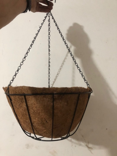hanging basket,metal pot with coco liner