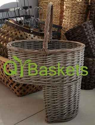 Storage basket,wicker stair step basket,willow stair step basket