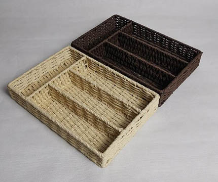 storage basket,made of paper rope with metal frame