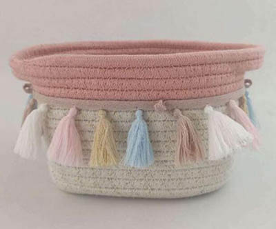 storage basket,gift basket,cotton rope basket