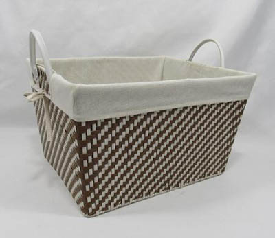 storage basket,gift basket,laundry basket,made of paper rope with liner