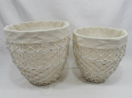 storage basket,gift basket,laundry basket,made of cotton rope with metal frame