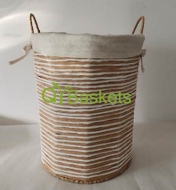 storage basket,laundry basket,made of paper rope with metal frame
