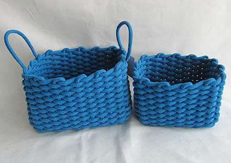 storage basket,gift basket,cotton rope basket,S/2