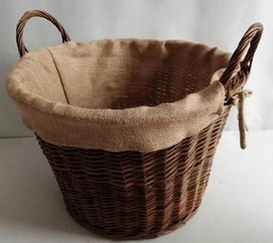 Storage basket,firewood basket,made of unpeeled willow