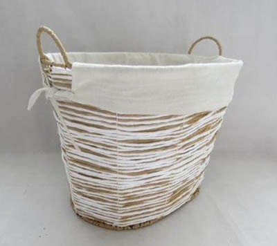storage basket,laundry basket,made of paper rope with liner