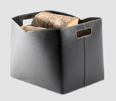 Storage basket,firewood basket,made of leather