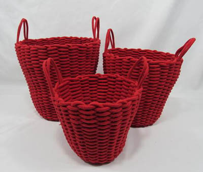 storage basket,gift basket,laundry basket,cotton rope basket