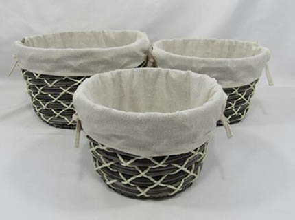 storage basket,gift basket,made of paper rope with metal frame
