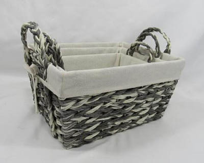 storage basket,gift basket,laundry basket,made of paper rope with metal frame