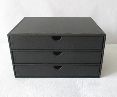 storage basket,desktop organize box,made of leather