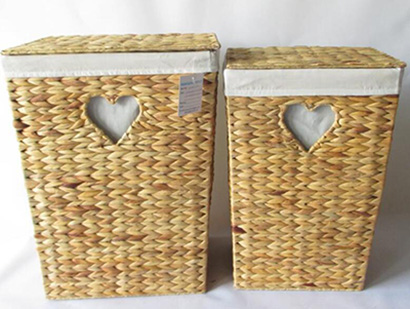 storage basket,laundry basket with lid,S/2