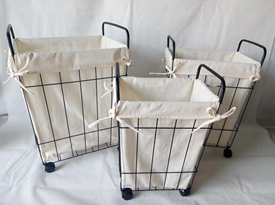 laundry basket with wheel,laundry cart,storage basket