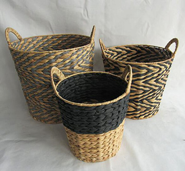 storage basket,laundry basket,made of water hyacinth
