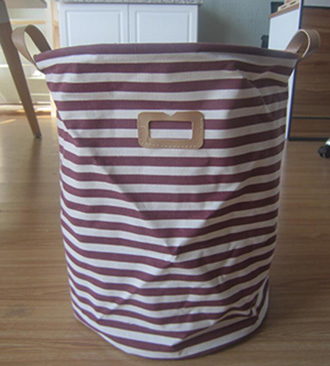 folded laundry basket,canvas laundry basket,with drawstring