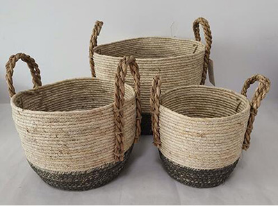gift basket,storage basket,furit basket,made of maize