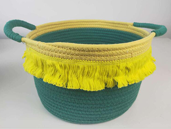 storage basket,laundry basket,cotton rope basket