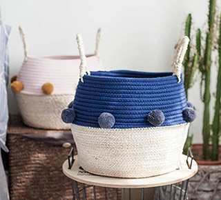 cotton rope storage basket,cotton rope flower pot