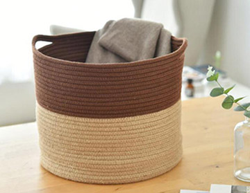 cotton rope storage basket,cotton rope laundry basket