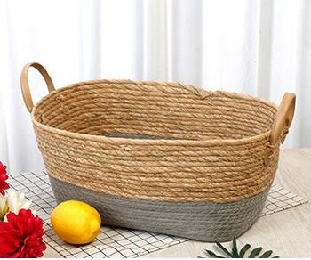 storage basket,gift basket,fruit basket,made of rush